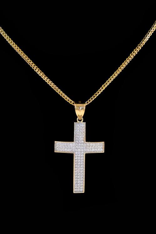 10k gold micro diamond cross pendant streetwear jewelry cali 10k gold micro diamond cross pendant mozeypictures Choice Image