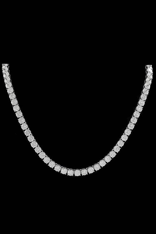 6mm Diamond Tennis Chain in Silver