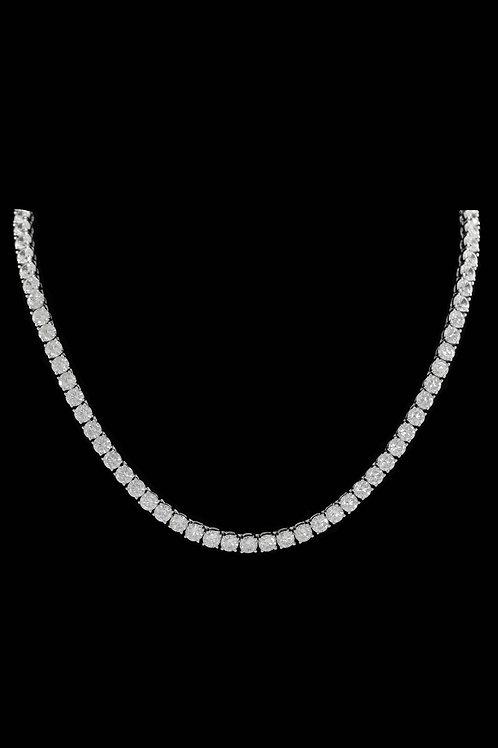 5mm Diamond Tennis Chain in Silver