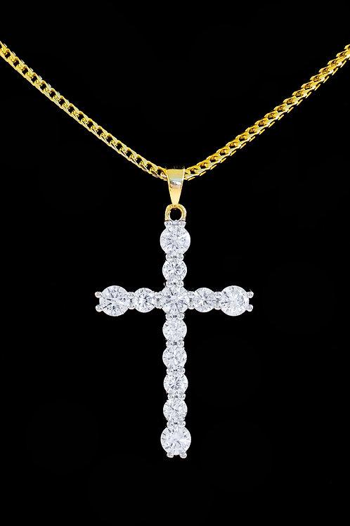Micro Diamond Cross Pendant