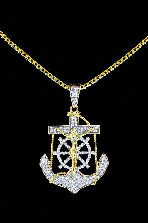 Micro Jesus Anchor Pendant
