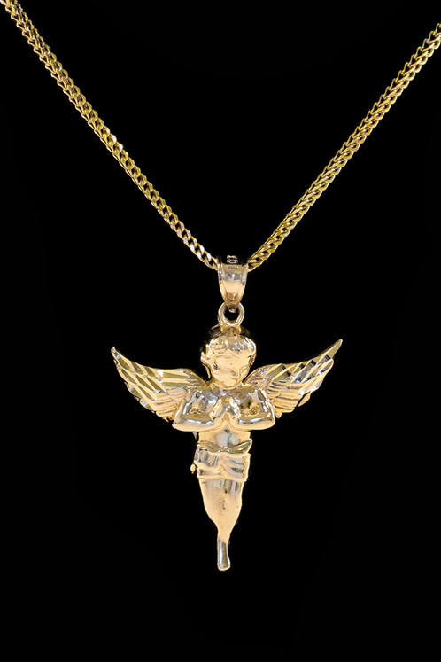 10k gold micro angel pendant streetwear jewelry cali co jewelry 10k gold micro angel pendant aloadofball Image collections