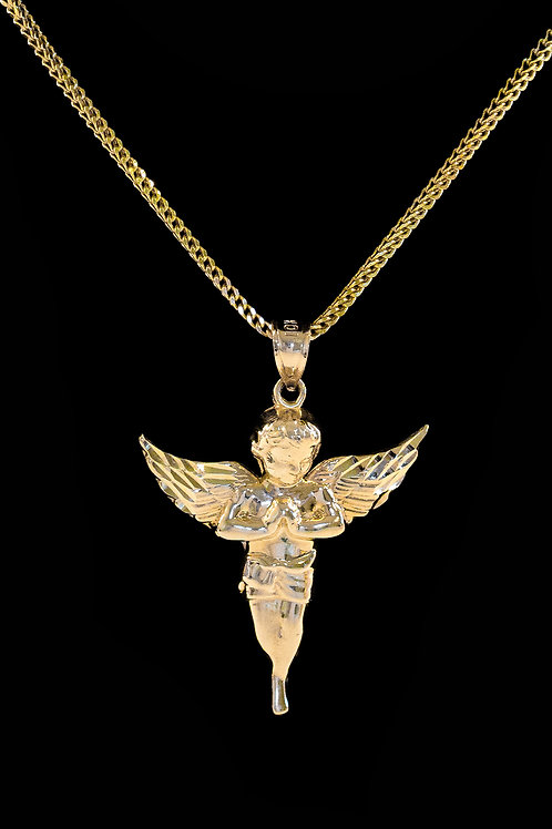 10K Gold Micro Angel Pendant