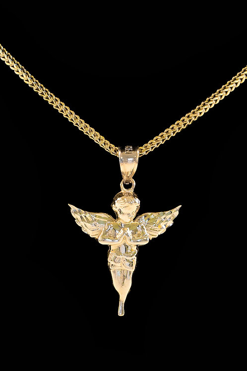 10K Gold Nano Angel Pendant