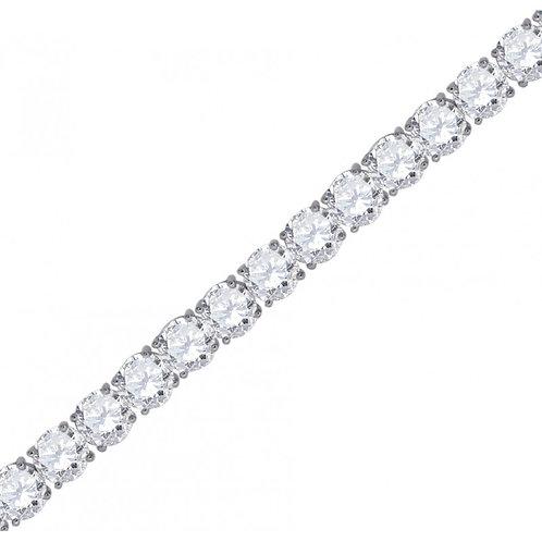 6mm Diamond Tennis Bracelet in Silver