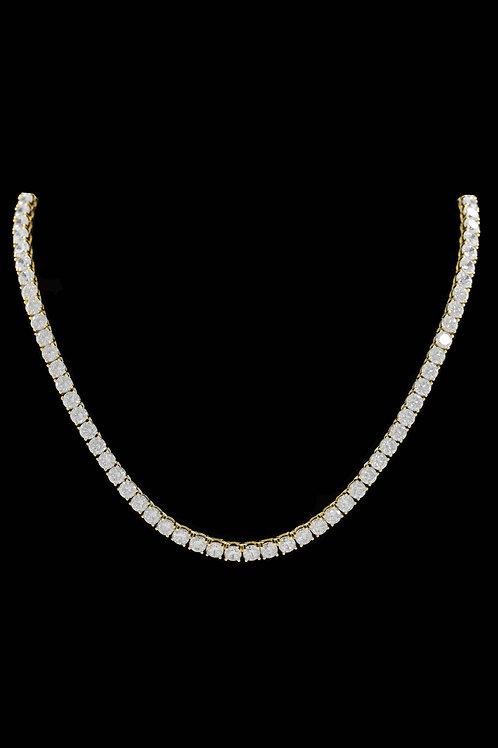 5mm Diamond Tennis Chain in Gold