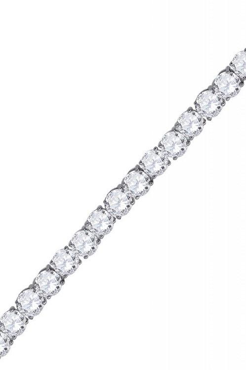 5mm Diamond Tennis Bracelet in Silver