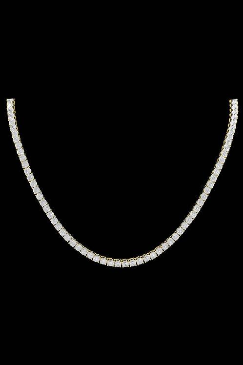 4mm Diamond Tennis Chain in Gold