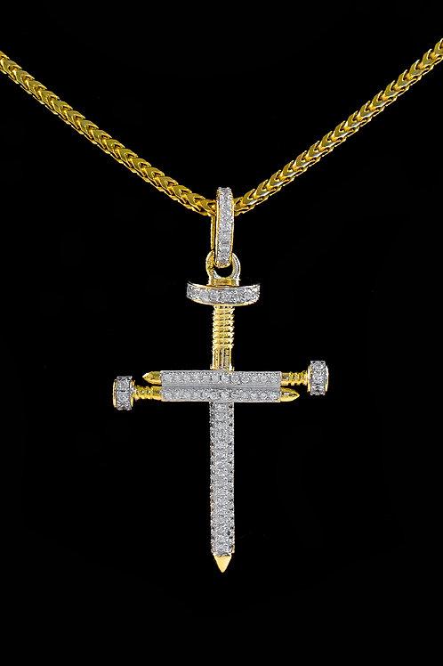 Micro Nail Cross Pendant