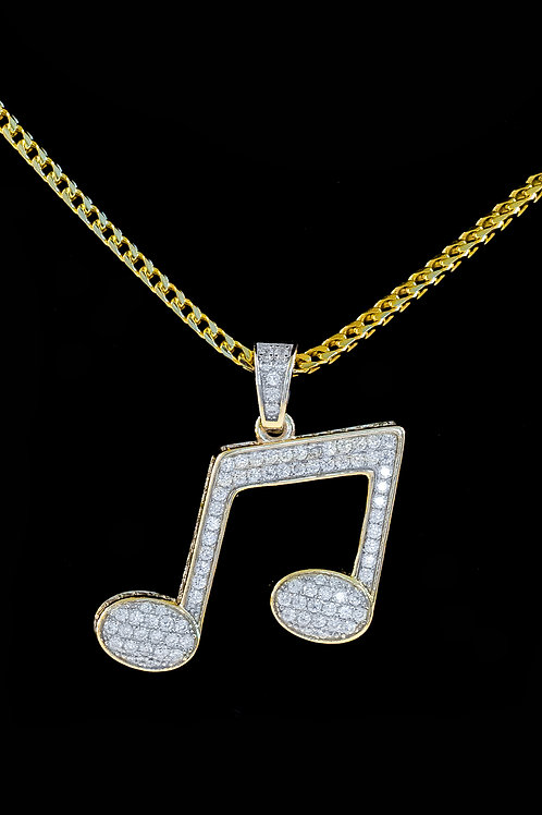 Micro Music Note Pendant