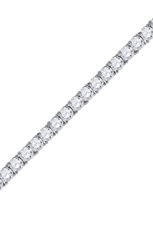 4mm Diamond Tennis Bracelet in Silver