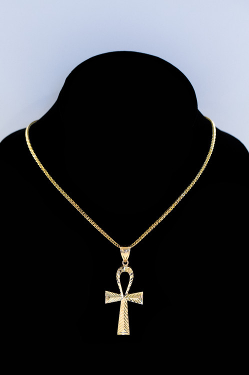 10k gold micro ankh pendant streetwear jewelry cali co jewelry originating from ancient egyptian hieroglyphics meaning life our premium handcrafted ankh will have you aloadofball Images
