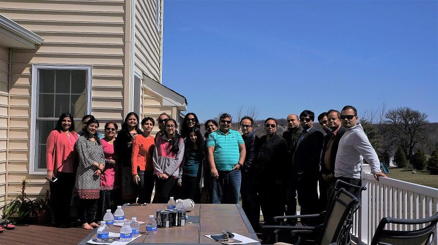 Al members present at Potluck meeting