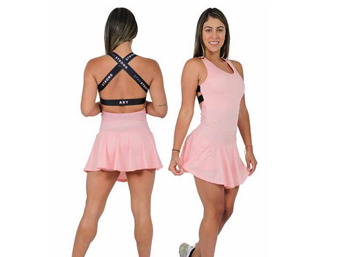 Sleeveless Mini Dress with Elastics