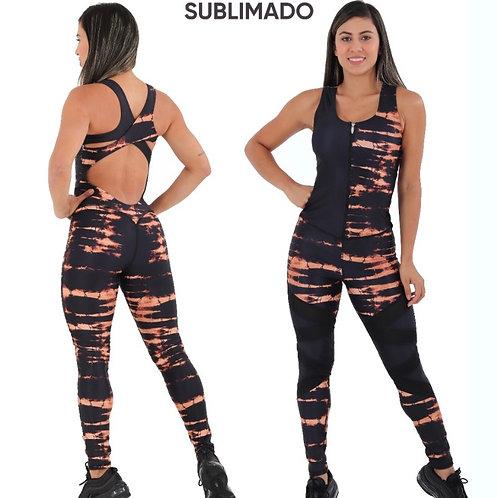 Sublimated Jumpsuits Black Stripes