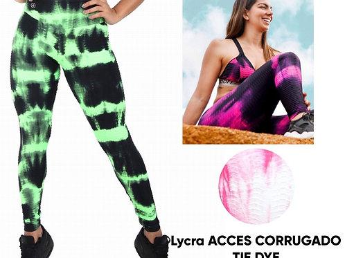 Lycra Access Corrugado Tie Dye