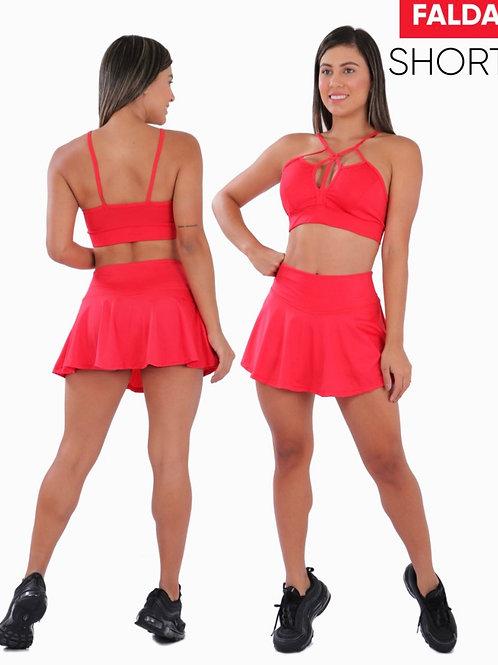 Short Skirt Solid Color