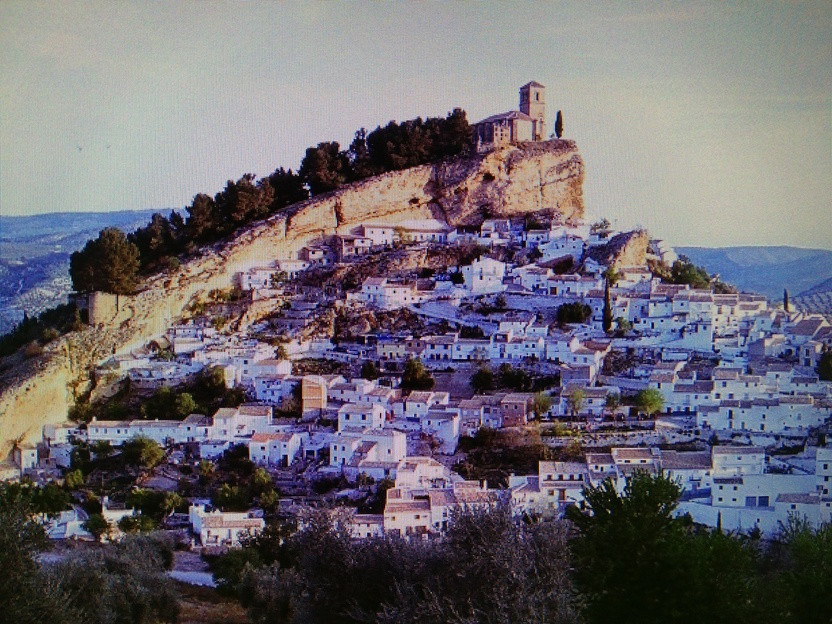 Montefrio's fortress: like a steam train charging off a mountain top