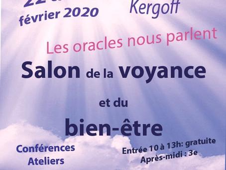 Salon de la voyance et du bien-être          22 et 23 février 2020   ******Nouveau