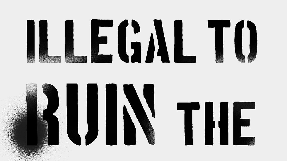 Make It Illegal / Make Party double sided poster