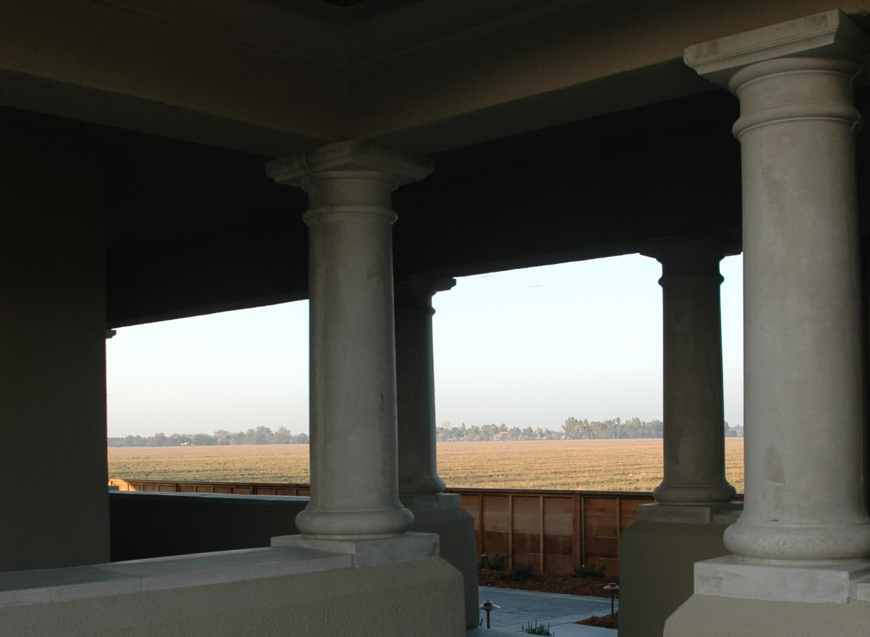 Columns at Porch