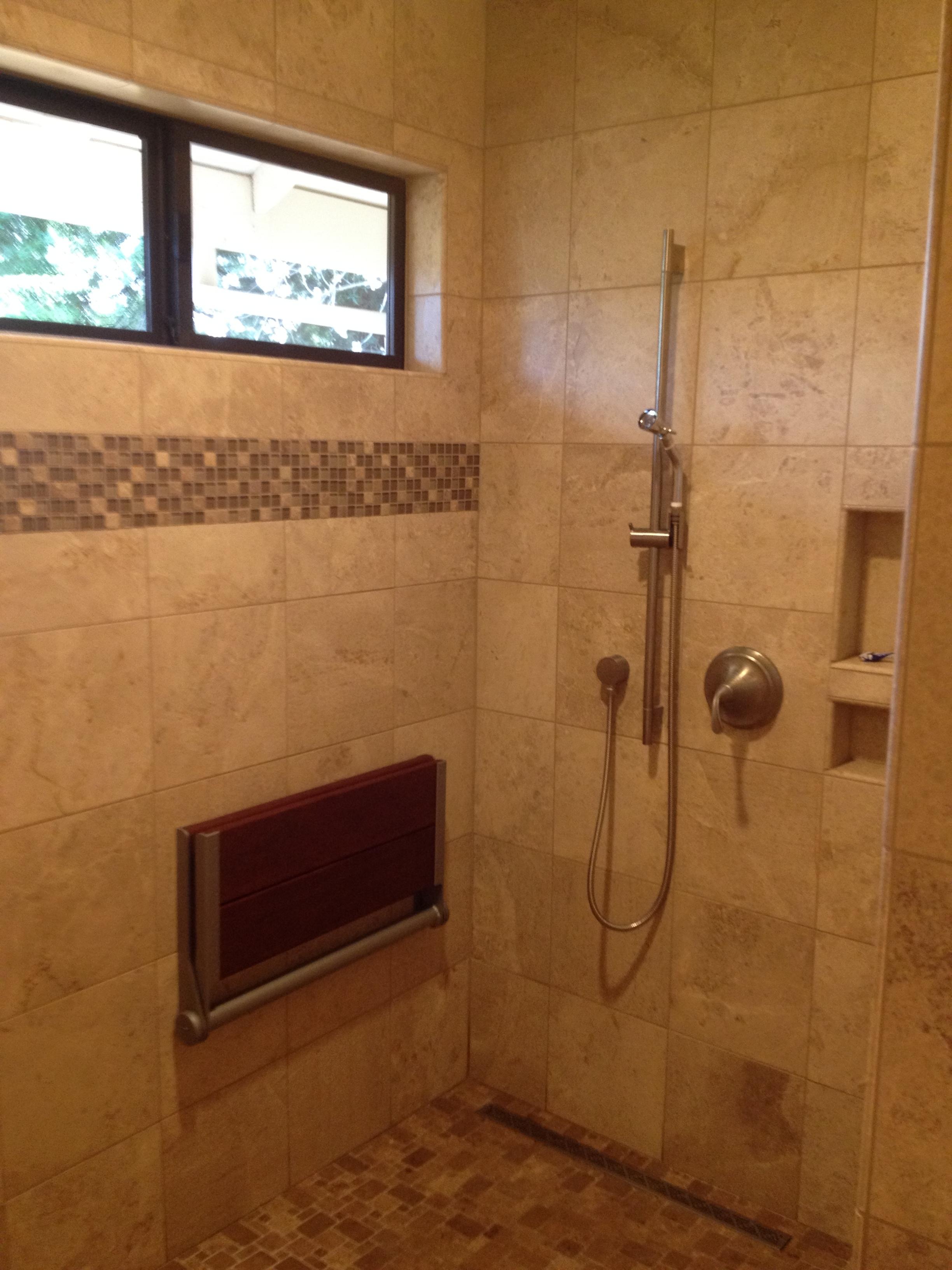 Bath Remodel - Fold Down Seat
