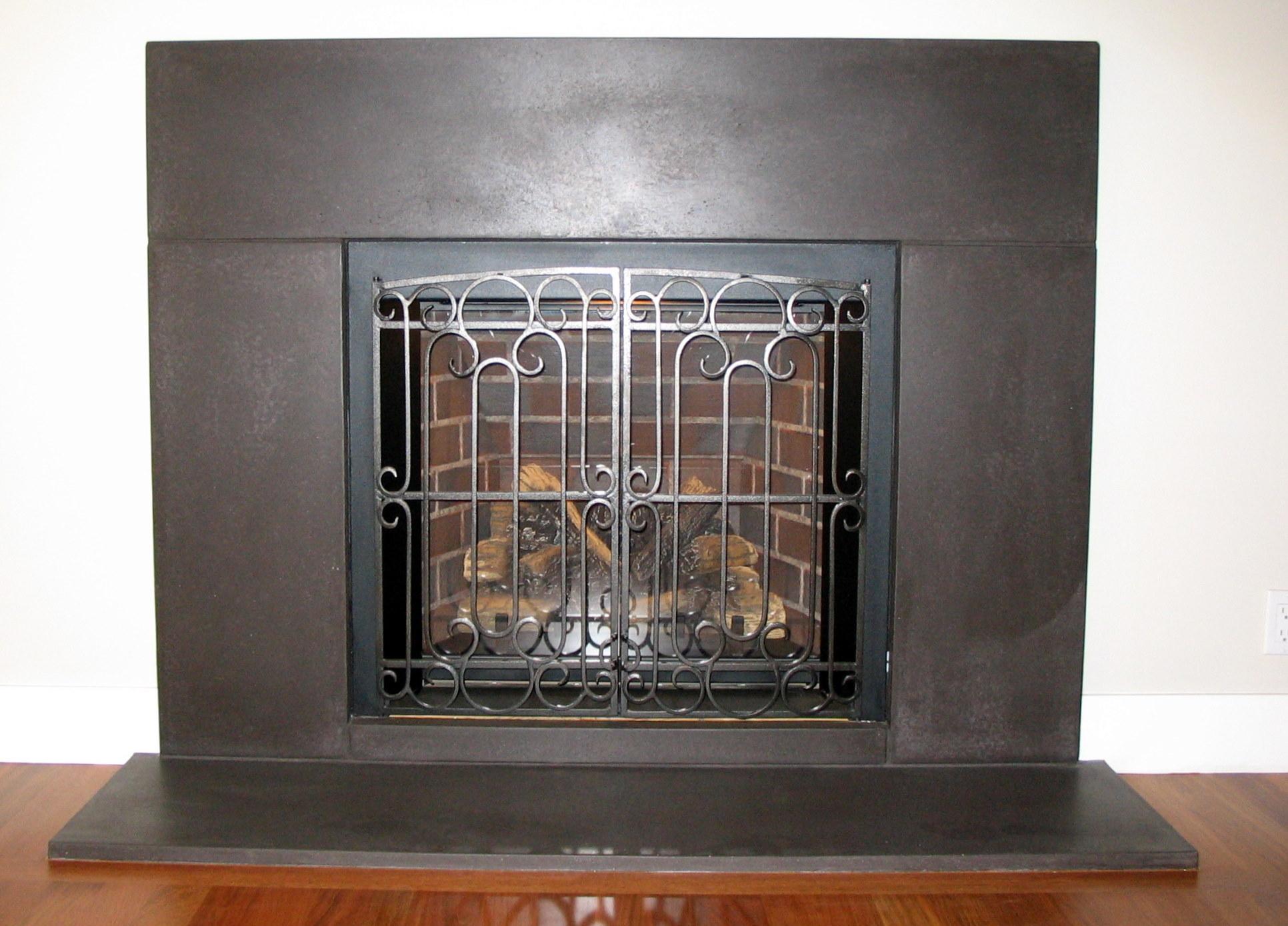 Fireplace - Custom Cast Concrete