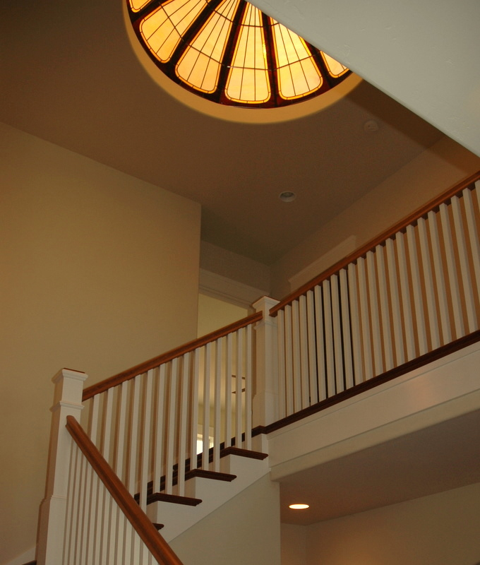 Staircase with Ceiling Dome Above