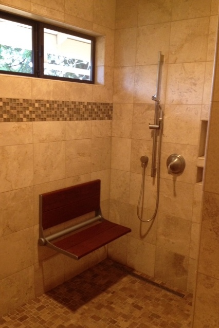 Bath Remodel - Folding Shower Seat
