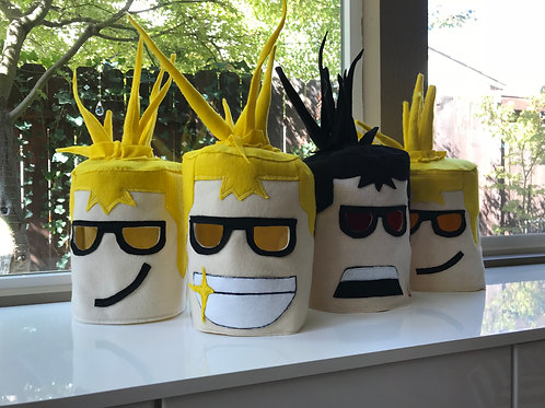 Roblox head mask costume for kids ages 4+ CUSTOM mouth/ skin/ hair