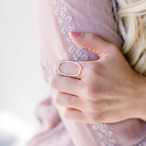 Open Oval Sterling Silver Ring - Made to Order
