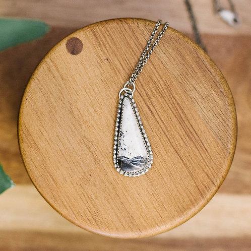 Beaded White Buffalo Necklace