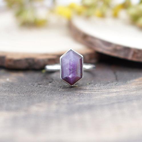 Elongated Hexagon Purple Sapphire - Made to Order