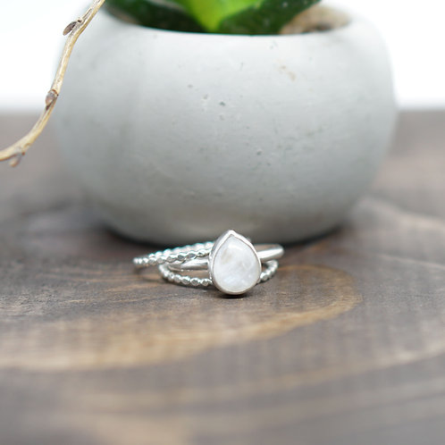 Moonstone Stacker Set - Made to Order