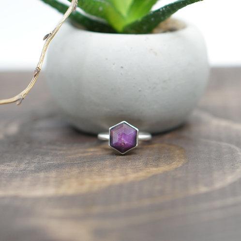 Hexagon Purple Sapphire - Made to Order