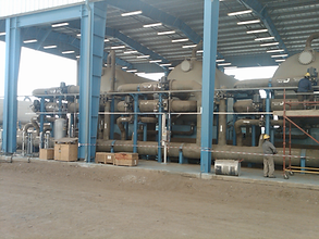 Horizontal filter configuration for desal pre-treatment
