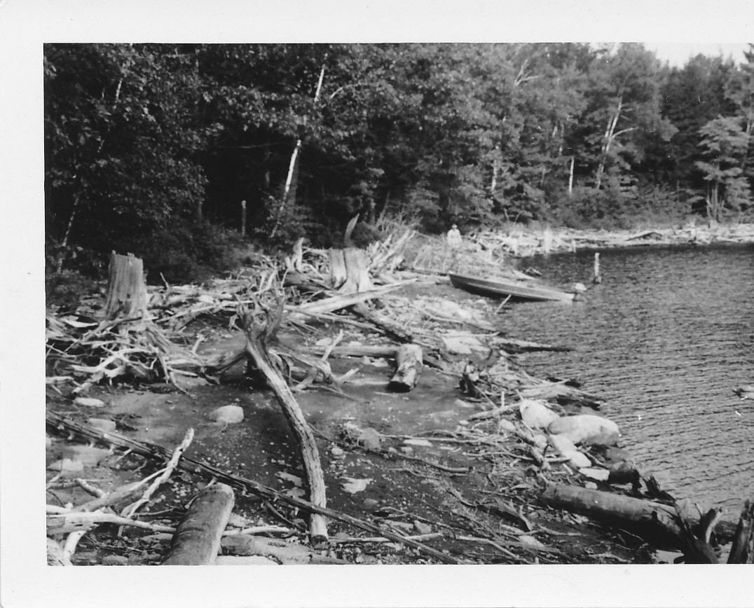 1956 approx.  The early days of cottaging - a view from Lorne & Kathy Scotts' property, Gold Lake