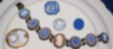 Wedgwood WSWDC tri-color cameo bracelet