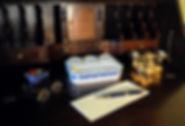 Wedgwood WSWDC salt glazed inkwell pipe holder postal scales