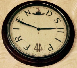 Lodge of Friendship No44 Clock on wall
