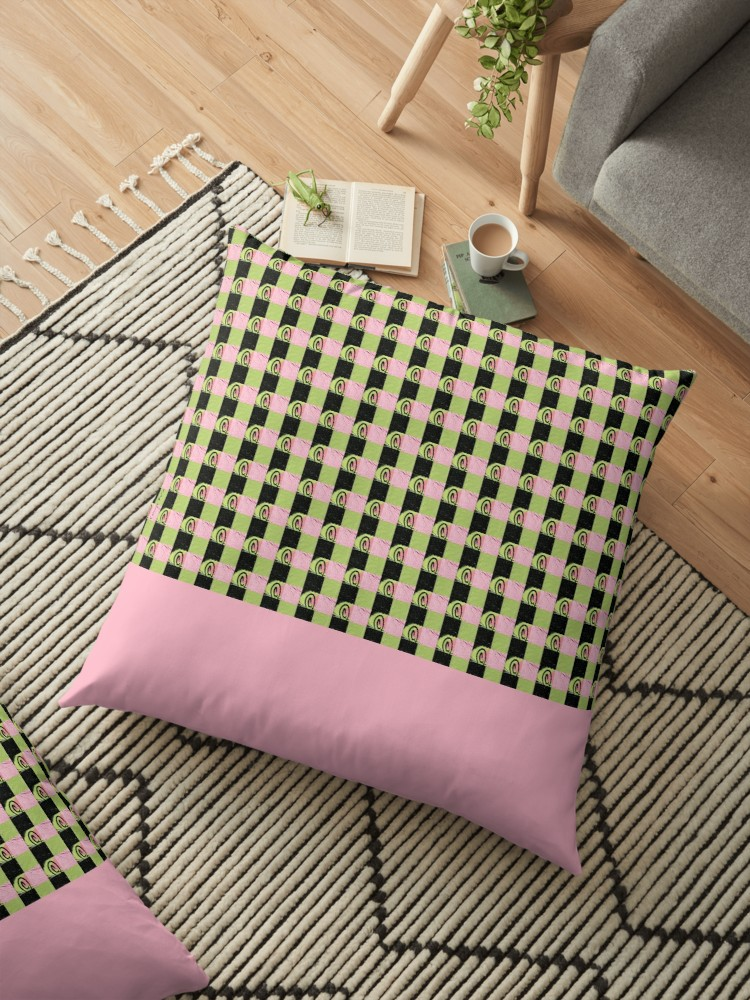 Coussin Schlachthof 13 fond rose