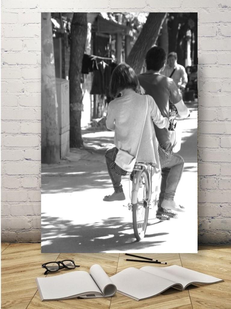 Chine - Couple à vélo à Pékin