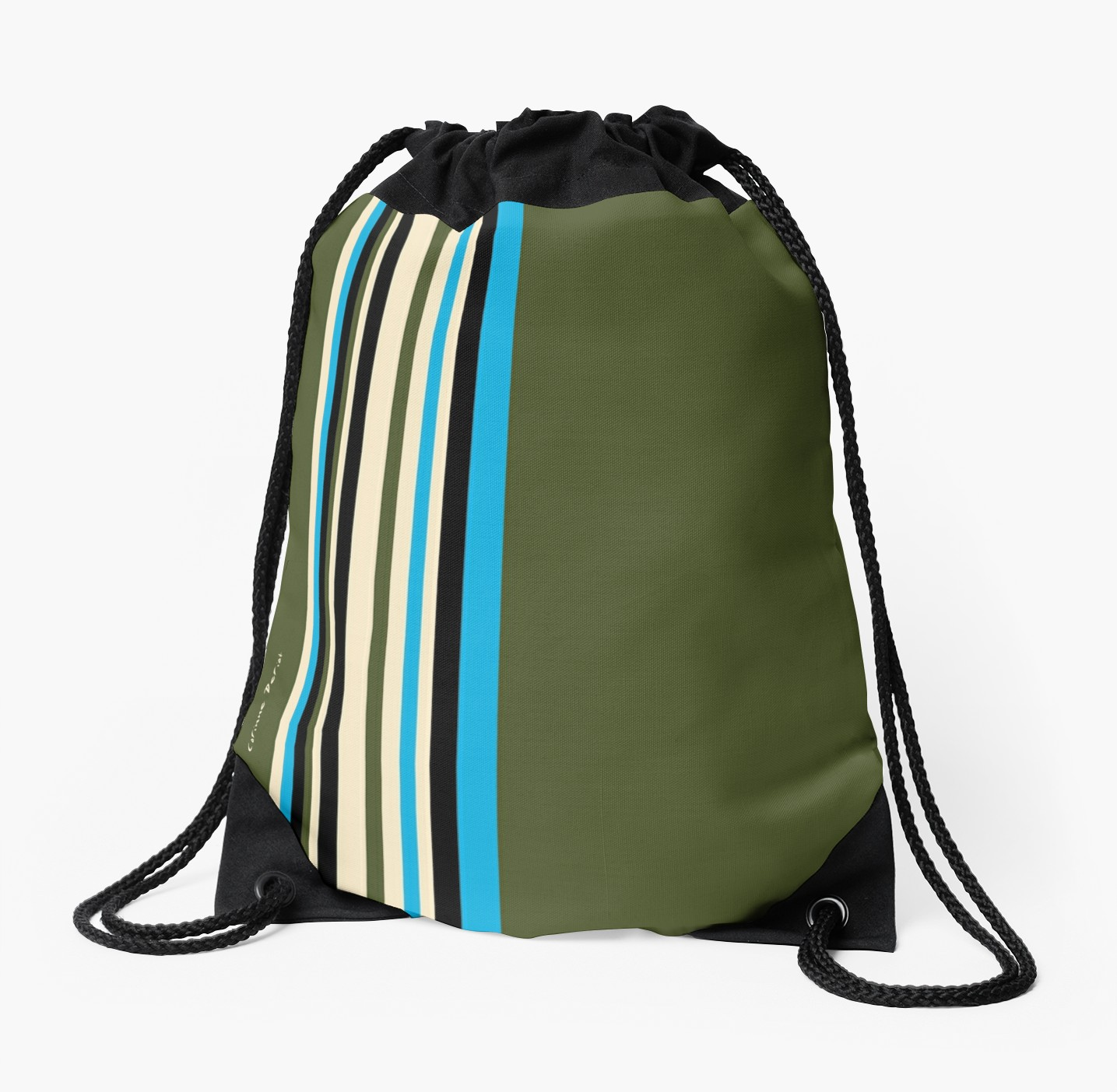 Sac 20180408 rayures vert kaki bleu beig