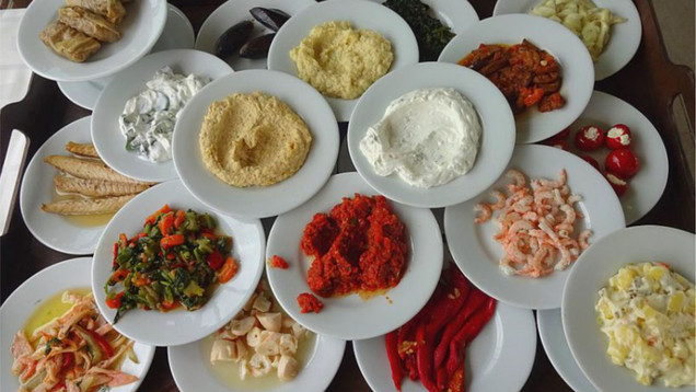 Cypriots love food, especially the meze