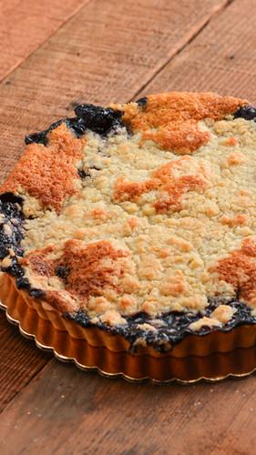 marionberry cobbler tart