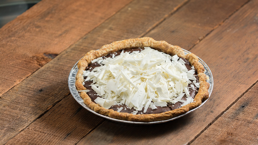 Chocolate Fudge Pie With White Chocolate Shaving