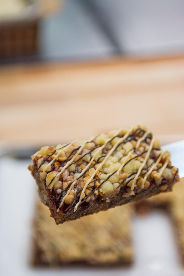 Peanut Butter Cherry Jelly Bars