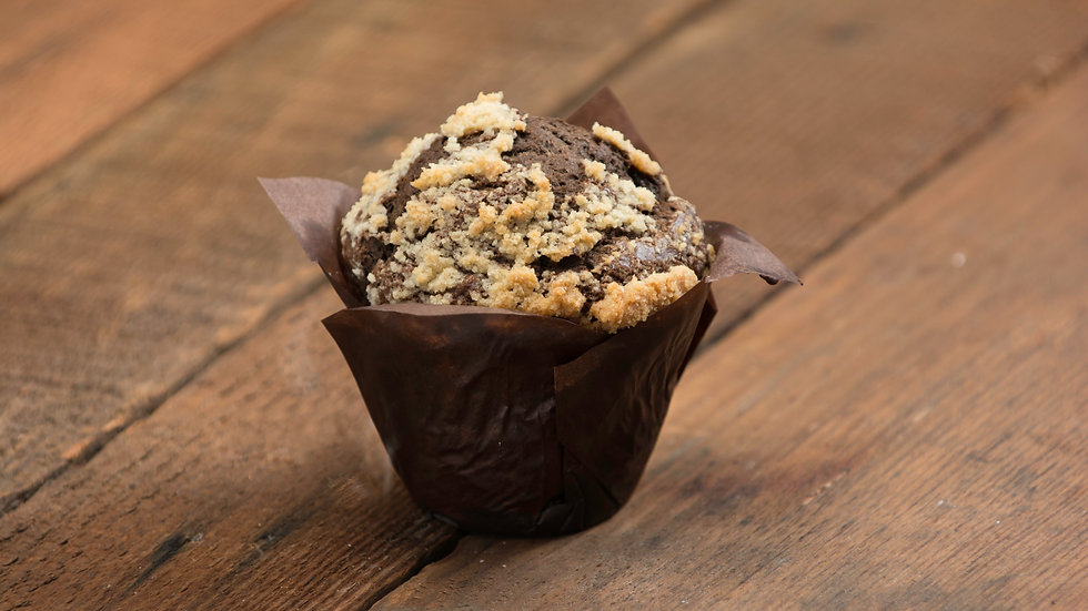 Double Chocolate Streusel Muffin