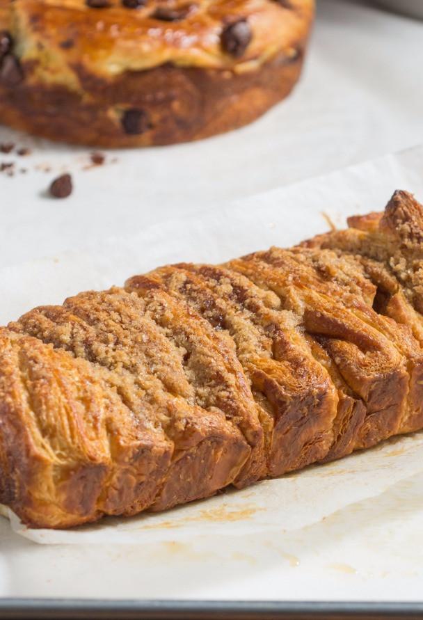 12 inch cinnamon danish loaf pull-apart