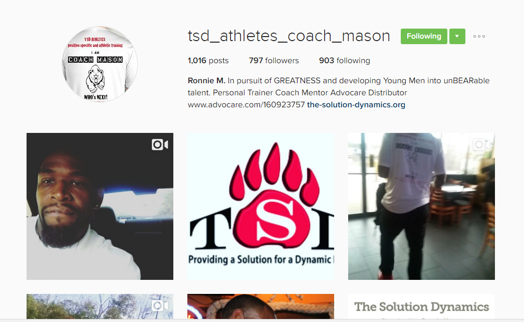 TSD IG page